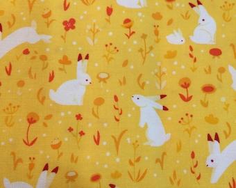 Luna Sol by Felice Regina for Windham Fabrics Rabbits on Yellow