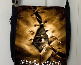 Jeepers Creepers Inspired Messenger Bag / Purse