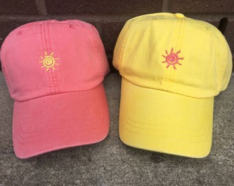 Sunshine Baseball Cap - Tiny Design Caps - Summer Baseball Caps