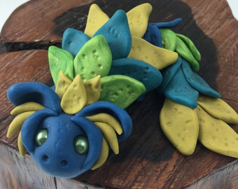 "OOAK polymer clay ""dew"" dragon"