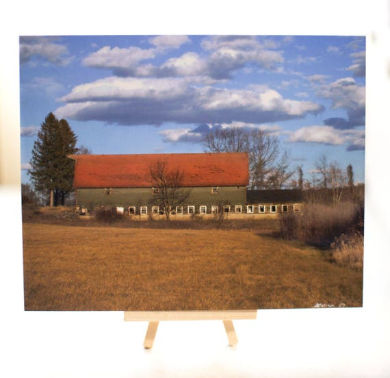 Shaw Farm Barn 8 x 10 Wooden Image Original Photography