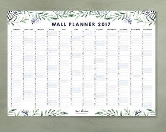 Wall Planner 2017 - Calendar