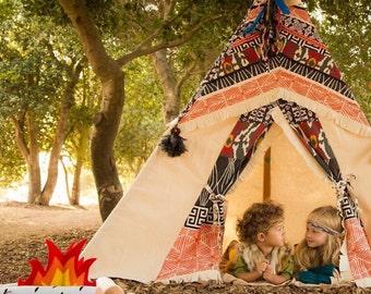 MADE to ORDER TEEPEE, unisex teepee, teepee, camp teepee, play tent, playhouse, tipi, tepee, 6ft.