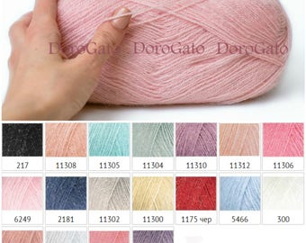 Nako Mohair Special Romantic, Mohair metallic yarn, mohair yarn, metallic yarn, wool, lace yarn, knitting yarn, crochet yarn, simly