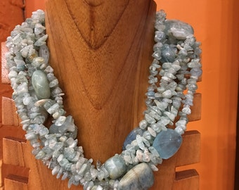 Gem stone Aquamarine Necklaces