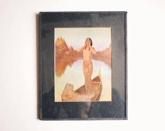 Walter De Maris   Indian Print   Vintage   Antique   Native American   Indian Chief