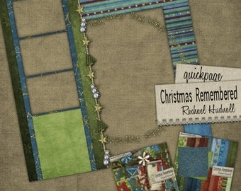 Christmas Remembered Digital Scrapbook Quick Pages