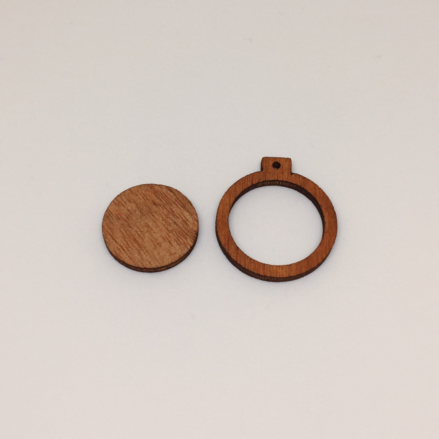 Mini wood embroidery hoop frame for diy pendant xmas ornaments