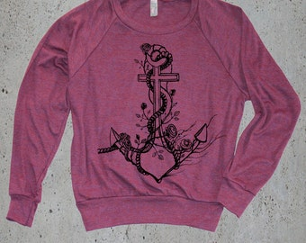 Women's ANCHOR Sweatshirt)Nautical Gift,Womens Graphic Sweater