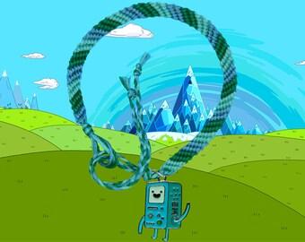 Adventure Time friendship bracelet with BMO charm Free UK Postage!