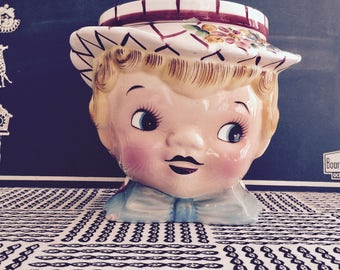 RARE Vintage 1950s Lefton Little Miss Dainty Cookie Jar