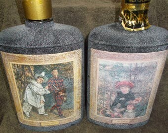 Set of 2 JIM BEAM Limited Release (1960'S) Bottles - Mardi Gras & On the Terrace