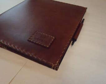 CSherwoodLeather Personalized Portfolio, Presentation Binder, 3 Ring binder and Legal Pad Notebook
