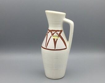 Scheurich  274 / 21, Heinz Siery design,  vintage handled vase Mid Century Modernist West German Pottery  made in the 1960s