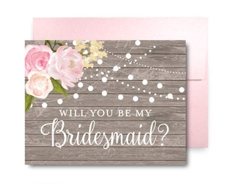 Bridesmaid Proposal Card, Will You Be My Bridesmaid Card, Bridesmaid Maid of Honor Gift, Matron of Honor, Brides Man, Flower Girl #CL138