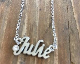 Julie Necklace in Silver or Gold