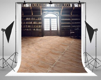 Retro Bookcases Room Photography Backdrops Indoor Wedding Photo Backgrounds for Lover Studio Props