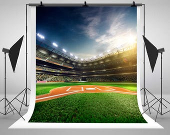 Baseball Photography Backdrops Sports Green Ground Backgrounds for Newborn Baby Photo Studio J02447
