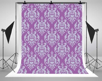 Purple Damask Patterns Photography Backdrops Newborn Baby Seamless Photo Backgrounds for Children Studio Props