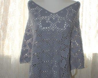 PDF Crochet Pattern Heart Poncho