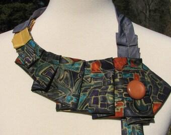 Ascot - Womens Ascot - Silk Ascot - Necktie Necklace - Repurposed Necktie - Silk Collar