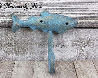 RESERVED 4 as shown // Cast Iron Coat Hook // Cast Iron Hook // Men's Decor // Lodge Decor // Fisherman's gift //  gifts for men