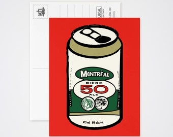 50 Beer Can Post Card