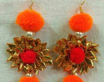 Indian Traditional Gotta Patti Handmade Earrings for Women