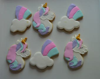 unicorns and  rainbows cookies