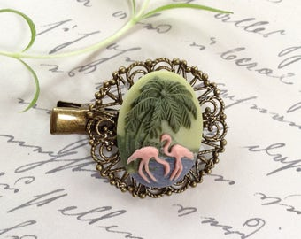 Alligator Hair Clip, Flamingo Hair Clip