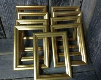165 -Picture Frames -Wedding -Table Number Frames - Set of 9- Elegant Gold