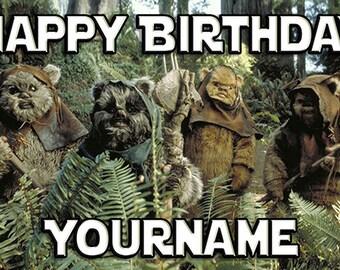 Star Wars Ewoks Birthday Banner - custom