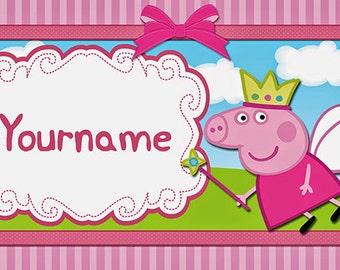 Peppa Pig Custom Birthday Banner - (Fairy)