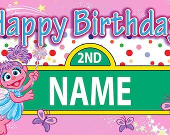 Abby Cadabby Custom Birthday Banner (street sign)
