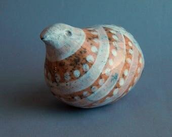 """Ceramic figurines """"Quail"""", ceramic sculpture, Red Bird"""