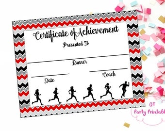Fun run certificate etsy instant download cross country certificate track and field running certificate jog yelopaper Choice Image