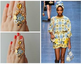 Earrings DOLCE style - Solar Mosaic
