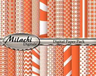 60% OFF SALE Smashed Pumpkin Digital Paper Pack, Scrapbook Papers, Commercial Use - Instant Download - M129