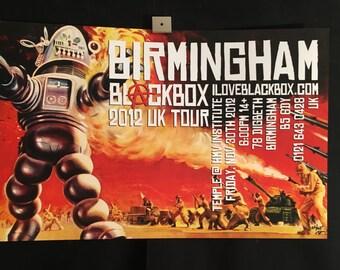 Blackbox Forbidden Planet UK 2012 Birmingham Tour Concert Poster Signed/Numbered