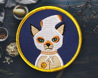 "Ash Fox Patch | Sew On | Embroidered | Patches for Jackets | 2.75"" (Free Shipping US)"