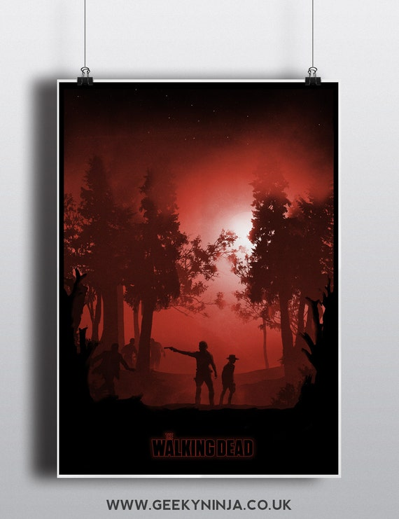 The Walking Dead inspired print - Walking Dead Minimalist Poster - TWD ww
