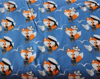 cotton jersey fabric fox 0,5 meter