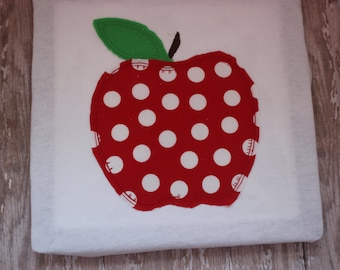 Machine Embroidery Pattern - Apple Applique Pattern - Embroidery Applique Design - Embroidery File - Teacher Applique Embroidery Design