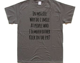 The Smiths / Morrissey - IN MY LIFE screen printed T Shirt