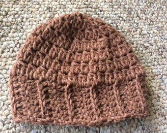 Baby brown hat