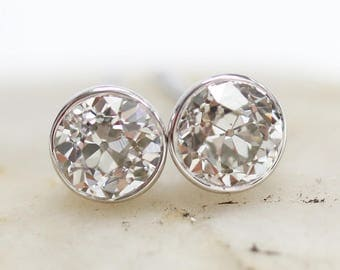 Emily Earrings • 0.60tw Old European Diamonds