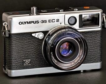 Olympus 35 EC 2 RF Rangefinder Camera w 42mm f/2.8 Lens MiNTY ! except for...