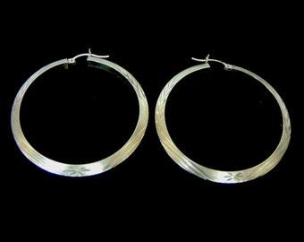 Pr Womens Vintage Estate 10K Yellow Gold Hoop Earrings 5.3g E926