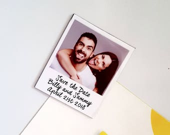 Save The Dates, polaroid picture effect, magnets, Custom wording, Wedding Invite, Favours, destination wedding, Price of 25 Magnets