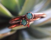 Coober Pedy | Dainty Coober Pedy Opal | Opal Ring | Dainty Opal Ring | Copper Opal Ring | Made-To-Order